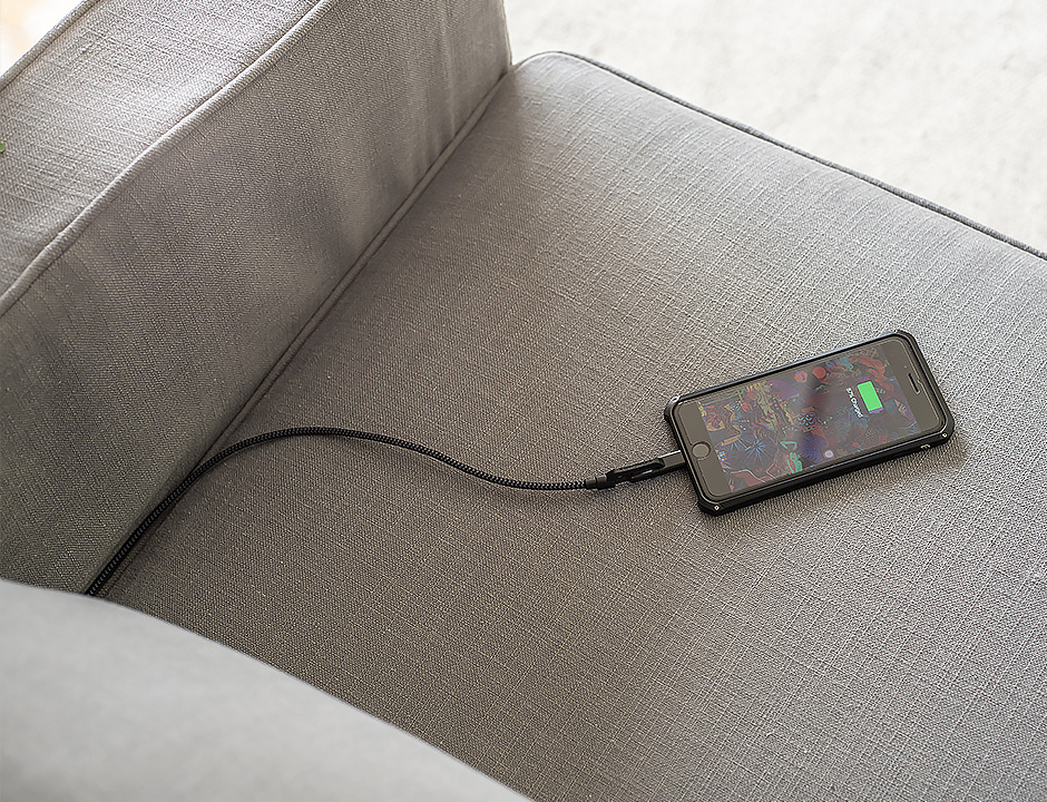 your sofa with this built in usb port