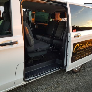 Comfort airport shuttle 7 seater sliding door open