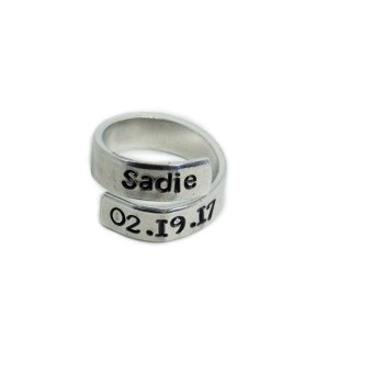 Custom name wrap around ring