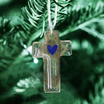 Cross bereavement ornament custom to your pet or loved one's hair or ashes
