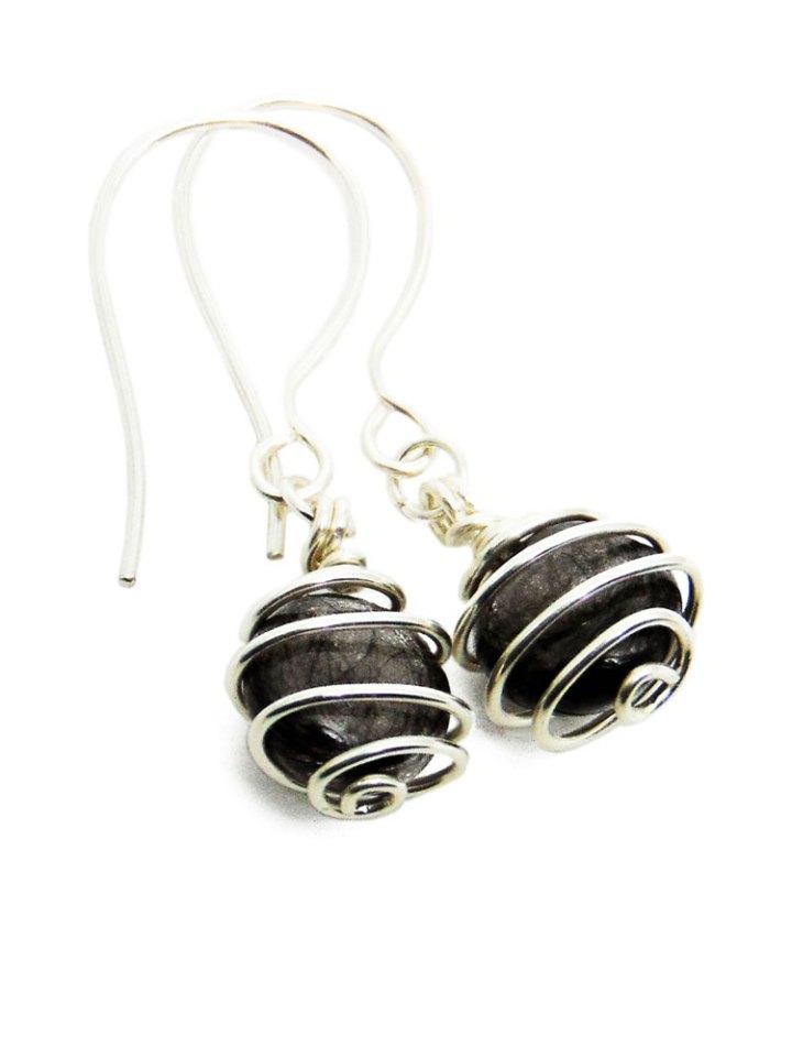 hair memorial earrings