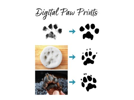 digital paw prints