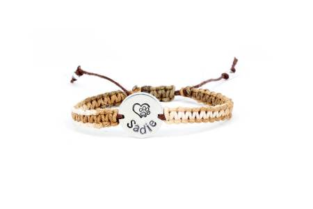 personalized hemp bracelet