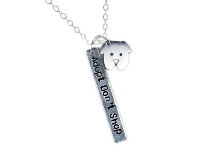 dog adoption charm necklace