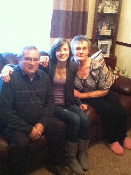 me with Granda and Betty