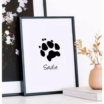 Your pet's actual digital paw print