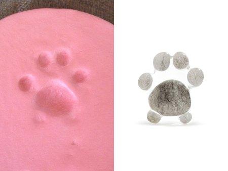 paw print pocket stone