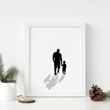 infant loss silhouette print