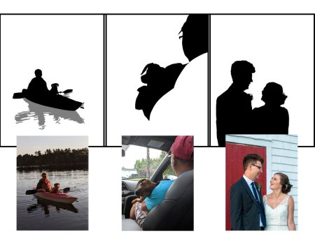 family portrait silhouettes