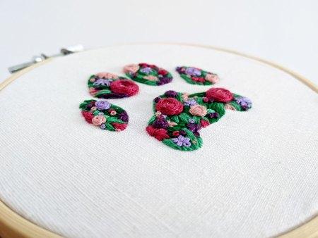 custom floral paw print