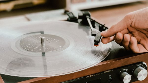 vinyl records with ashes