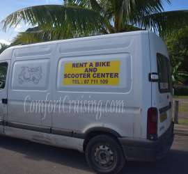 Rent A Scooter Moorea Van