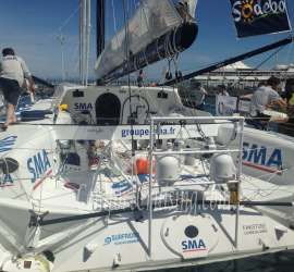 Stern SMA Vendee Raceboat Marina Papeete Tahiti