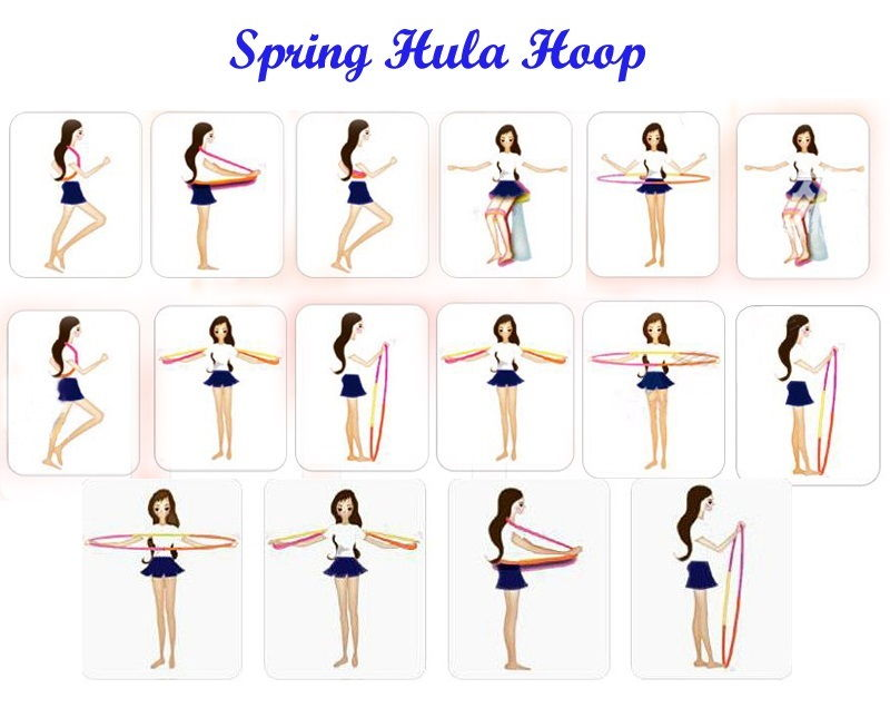 Spring Fitness Hula Hoop Gym Workout Slim Slimming Body