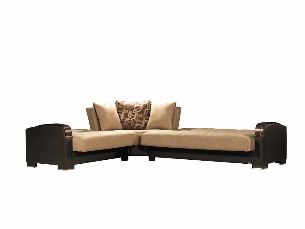 megamax brown sectional sofa