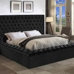 Bliss Black King Size Bed Bliss Meridian Furniture King Size Beds Comfyco Furniture