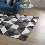 Kahula Gray Black White 8x10 Area Rug R 1014a 810 Modway Furniture Area Rugs Comfyco Furniture