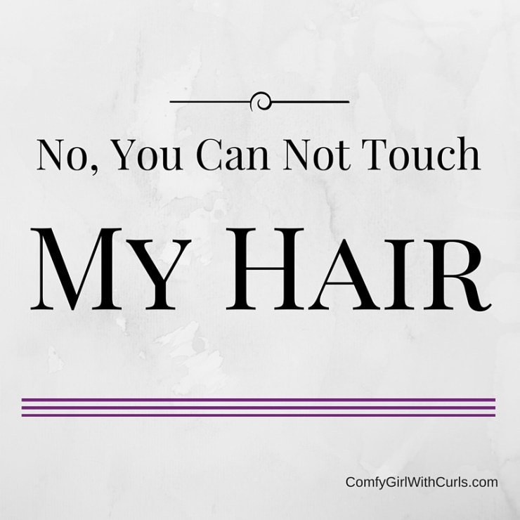 No You Can Not Touch My Hair