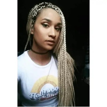 Platinum Box Braids | Light Blonde Box Braids | Choker | Do Your Own | Mixed Girl