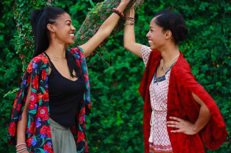 Long Distance Friendship | Tilda Kimono | Comfy Girl With Curls | Handmade Kimono Robes