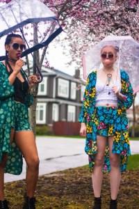 Tilda Kimono Model | Styled by Tildy | Floral Patterned | YVR Designer