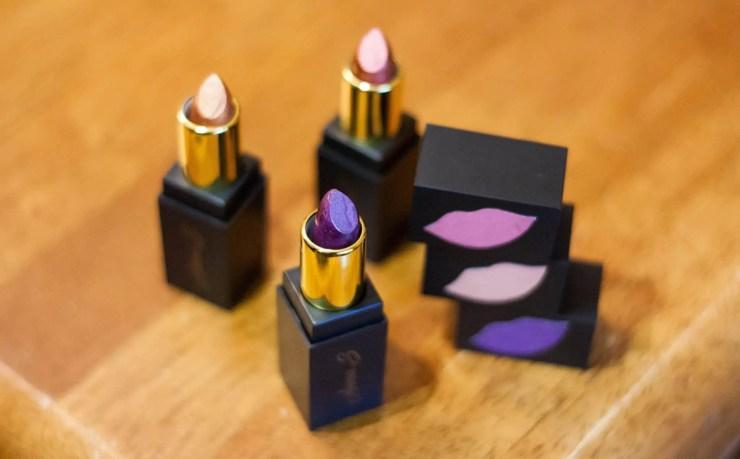 Anna S. Lipsticks   Bronze Gold Purple   Organic Vegan Natural Lipstick