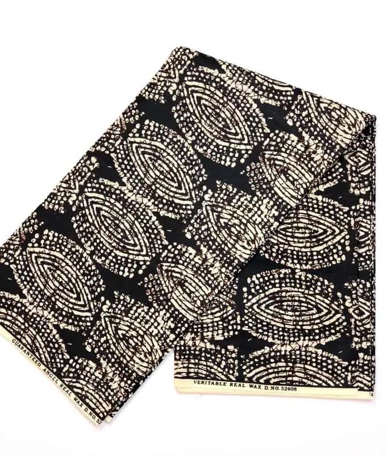 Black and white print | NasikaWax | African Print Wax