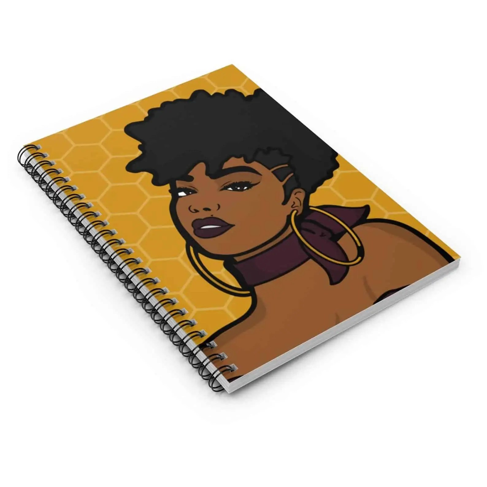 M&K Creative Designs Black Owned Canadian Etsy Shop | Afrocentric Products Black Girl Notebook