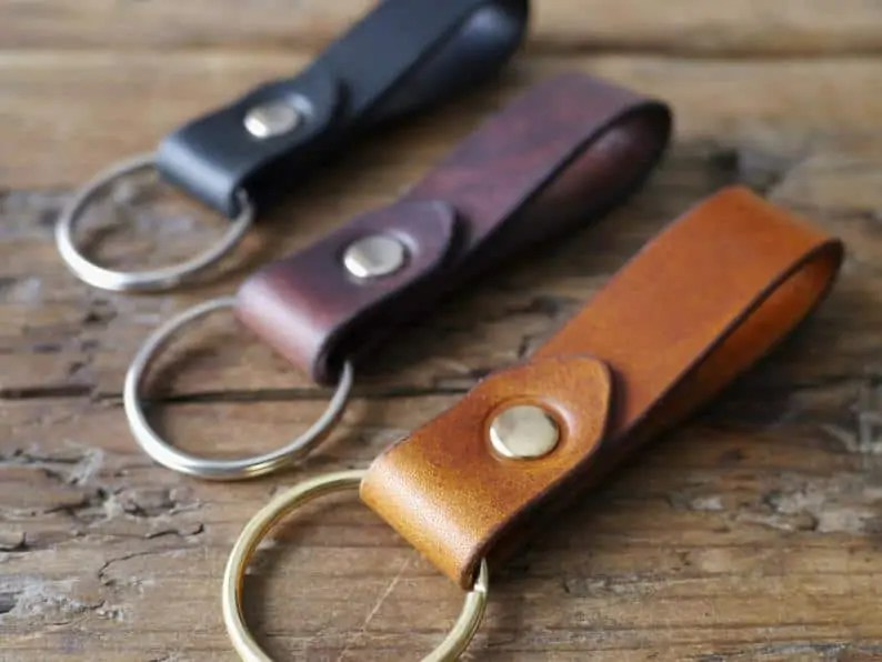 Black-Owned Etsy Shop: Kingsley Leather Key Chains Gift and Stocking Stuffer
