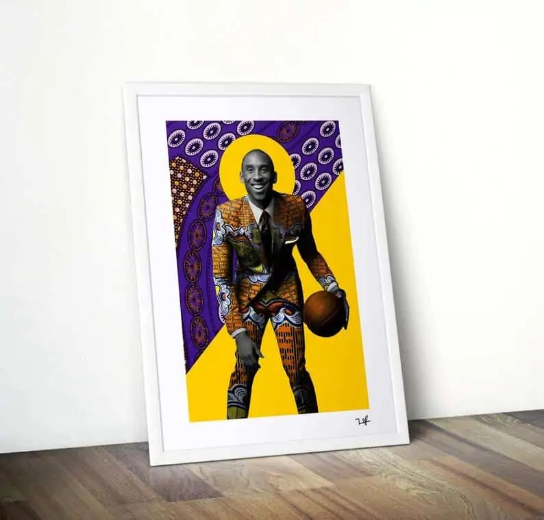 Black-owned Etsy Shop   Gifts for men Kobe Bryant Art Print