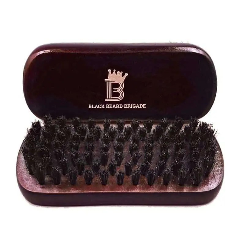 Black Beard Brigade Wooden Brush   Unique Grooming Gifts for Him