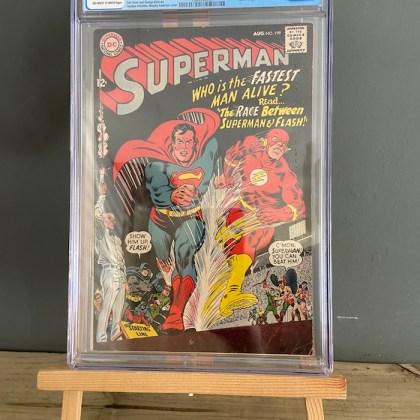 CGC Graded [6.0] DC Superman #1991st Superman vs Flash Race