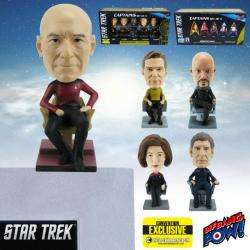 Star Trek Captains Monitor Mate Bobble Heads Set of 5—Convention Exclusive