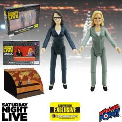 Saturday Night Live Weekend Update Tina Fey & Amy Poehler 3 1/2-Inch Action Figures Set of 2—Convention Exclusive