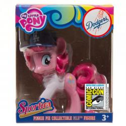 My Little Pony Pinkie Pie Sporty Vinyl Figure  in Los Angeles Dodgers Jersey