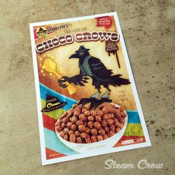 Checo Crows cereal print by Steam Crow