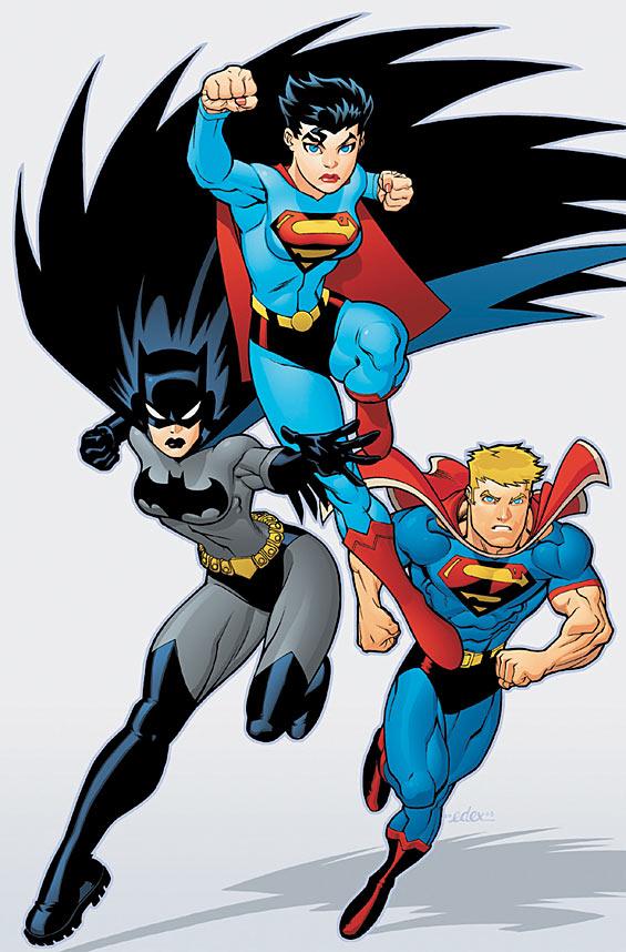 1160416166564 Batgirl, Supergirl, Superboy