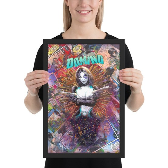 Domino Comic Canvas Framed Reproduction Print