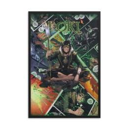 Loki Comic Canvas Framed Reproduction Print