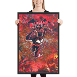 Batman: The Red Death – Dark Knights Metal – Comic Canvas Framed Reproduction Print