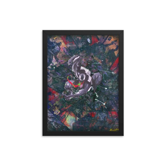 Venom Comic Canvas Framed Reproduction Print