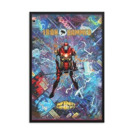 Iron Hammer – Marvel Infinity Warps – Iron Man x Thor Comic Canvas Framed Reproduction Print