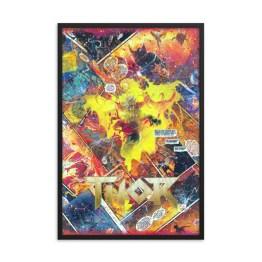 King Thor – Marvel Comic Canvas Framed Print