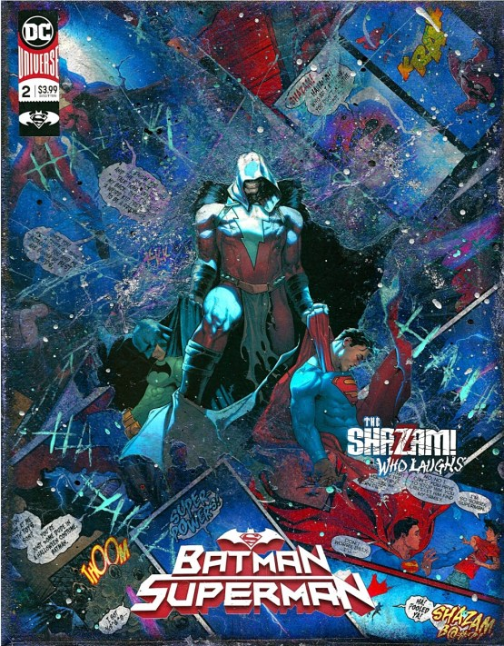 The SHAZAM Who Laughs – Custom Variant Cover – Dark Knights Metal – One of A Kind DC Comic Book Canvas