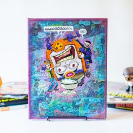MODOK | One of A Kind Handmade Marvel Comic Book Canvas