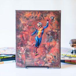 Jay Garrick | Earth 2 | One of A Kind Handmade DC Comic Book Canvas