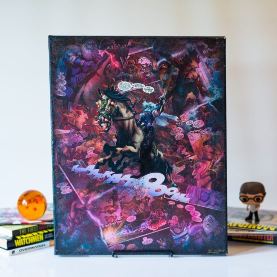 Odin Rides to War | One of A Kind Handmade Marvel Comic Book Canvas