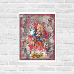 Goku | Super Saiyan Dragon Ball Legends Comic Collage Print