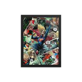 The Supergirl Who Laughs | Virgin Collage Variant Framed Print