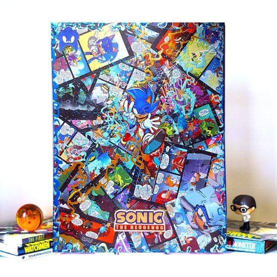 Sonic The Hedgehog | One of a Kind JUMBO Sega Gamer Comic Collage Variant Canvas